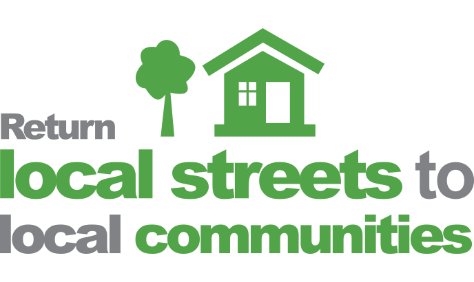 Return local streets to local communities